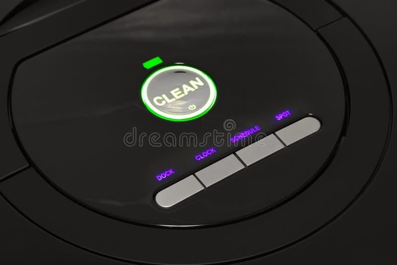 Πίνακας ελέγχου της ρομποτικής ηλεκτρικής σκούπας στοκ φωτογραφία με δικαίωμα ελεύθερης χρήσης