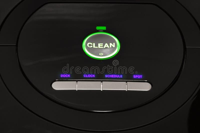 Πίνακας ελέγχου της ρομποτικής ηλεκτρικής σκούπας στοκ φωτογραφία