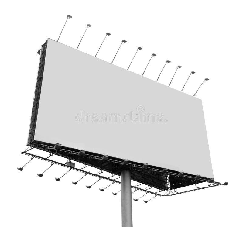 Πίνακας διαφημίσεων με την κενή οθόνη στοκ εικόνα