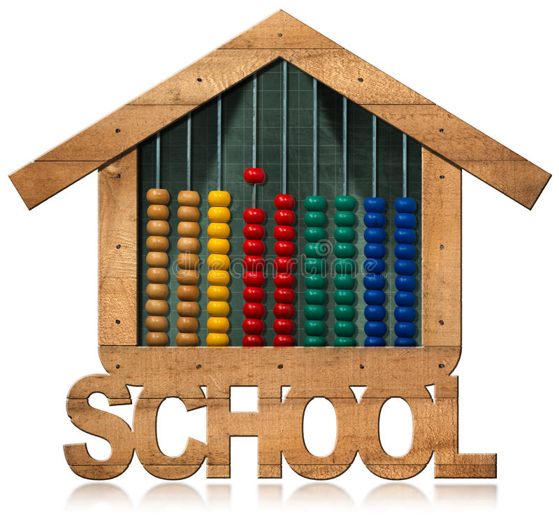 Πίνακας και άβακας - σχολικό κτίριο που διαμορφώνεται διανυσματική απεικόνιση
