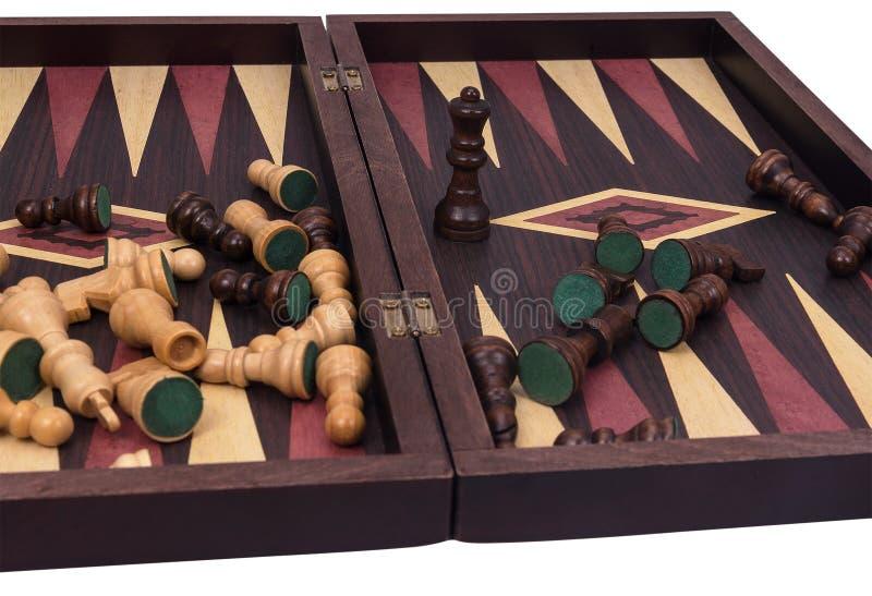 Πίνακας και σκάκι ταβλιών στοκ φωτογραφίες