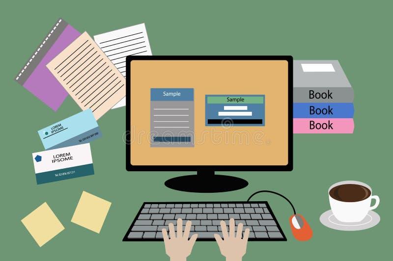 Πίνακας και υπολογιστής για την εργασία στοκ φωτογραφία με δικαίωμα ελεύθερης χρήσης