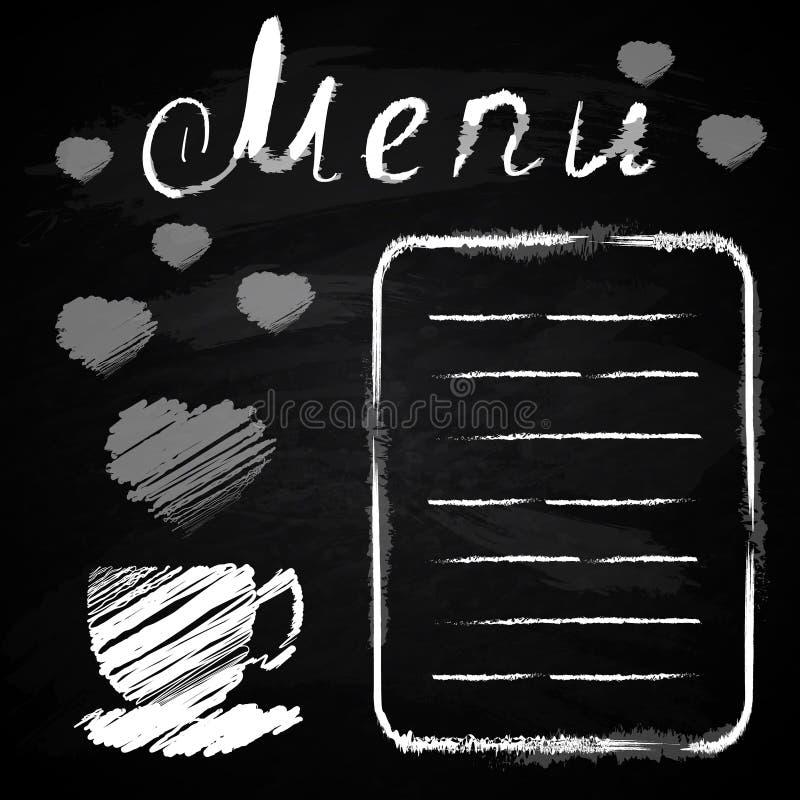 Πίνακας κιμωλίας Επιλογές για τον καφέ, εστιατόριο απεικόνιση αποθεμάτων