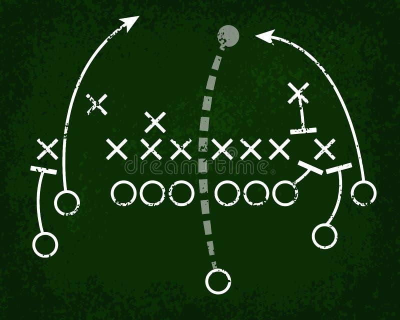Πίνακας κιμωλίας παιχνιδιού ποδοσφαίρου απεικόνιση αποθεμάτων