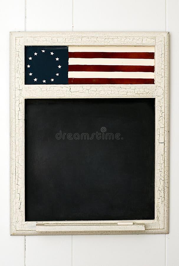 Πίνακας με τη αμερικανική σημαία στοκ φωτογραφία με δικαίωμα ελεύθερης χρήσης