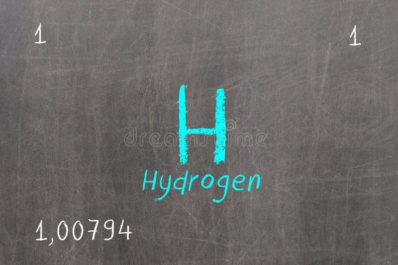 πίνακας με τον περιοδικό πίνακα, υδρογόνο απεικόνιση αποθεμάτων