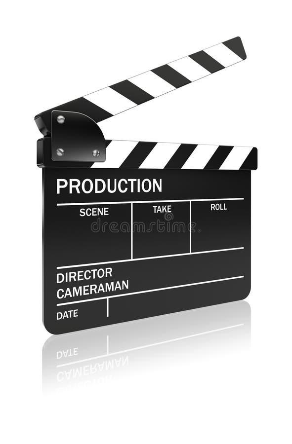 Πίνακας πλακών ταινιών ελεύθερη απεικόνιση δικαιώματος