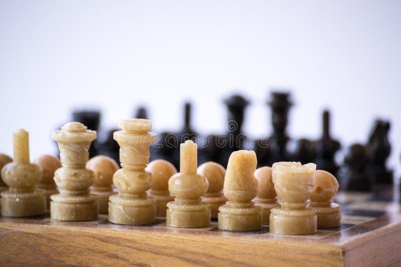 Πίνακας σκακιού από τη δεξιά γωνία στοκ φωτογραφίες με δικαίωμα ελεύθερης χρήσης