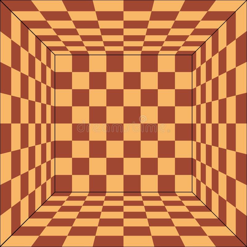 Πίνακας σκακιού από τη τοπ άποψη απεικόνιση αποθεμάτων
