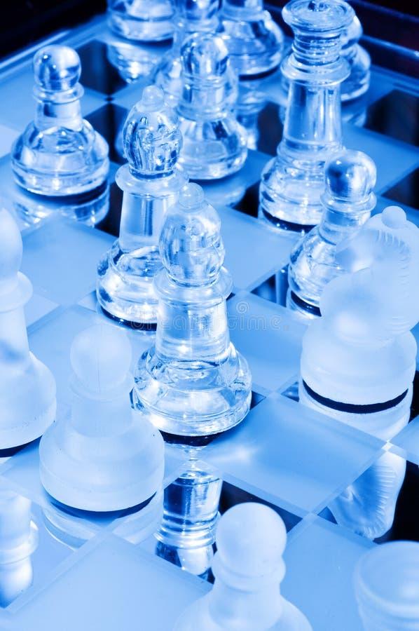 Πίνακας σκακιού γυαλιού στοκ εικόνα