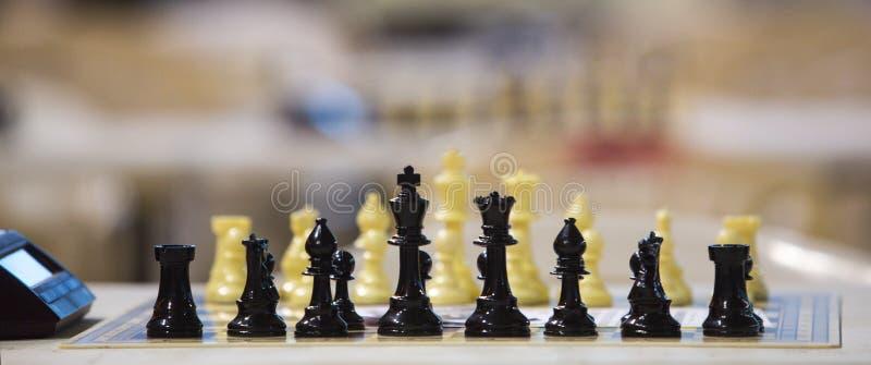 Πίνακας σκακιού πριν από τα πρωταθλήματα στοκ φωτογραφίες