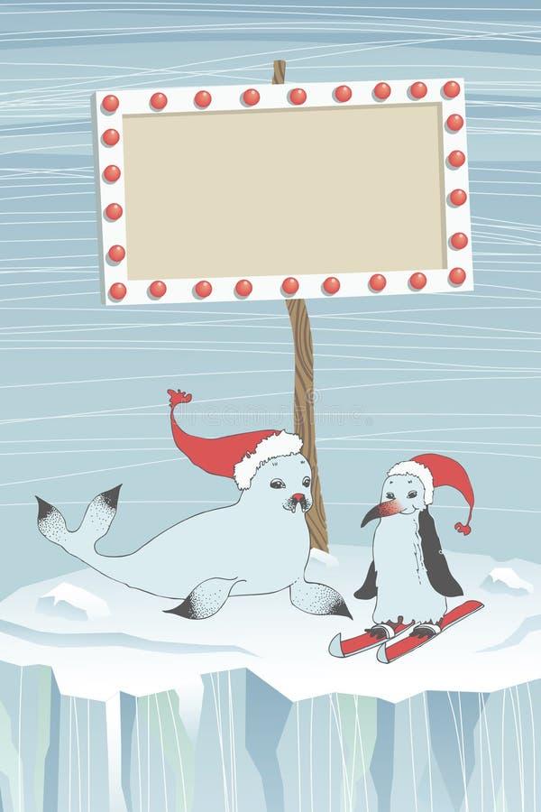 Πίνακας σφραγίδων, Penguin και οδηγών απεικόνιση αποθεμάτων