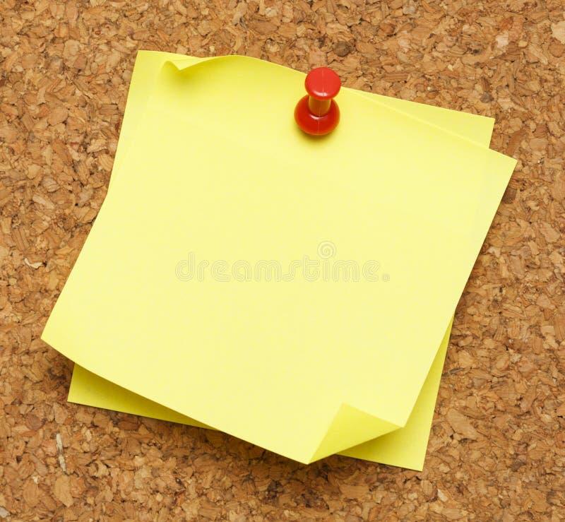 Πίνακας του Κορκ σημειώσεων ραβδιών στοκ εικόνα