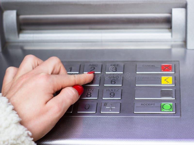 Πίνακας του ATM στοκ φωτογραφία με δικαίωμα ελεύθερης χρήσης