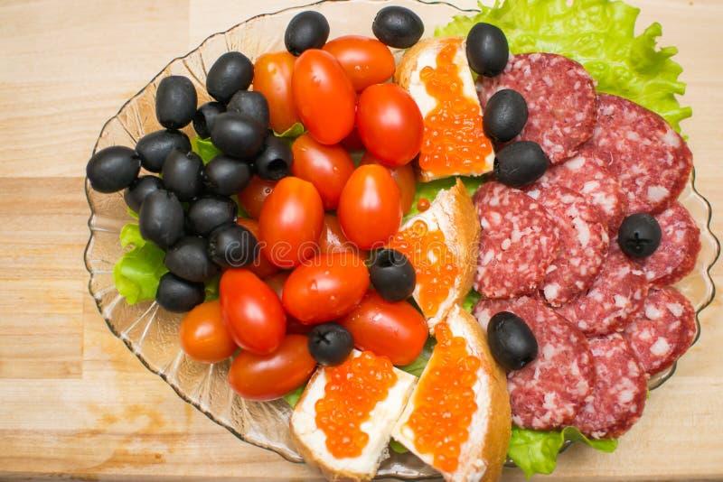 Πίνακας τροφίμων γαστρονομικός στοκ εικόνα