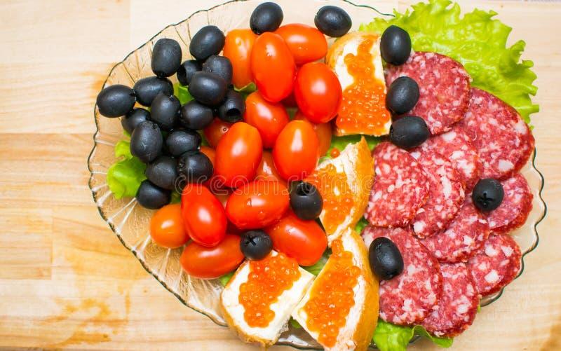Πίνακας τροφίμων γαστρονομικός στοκ φωτογραφία