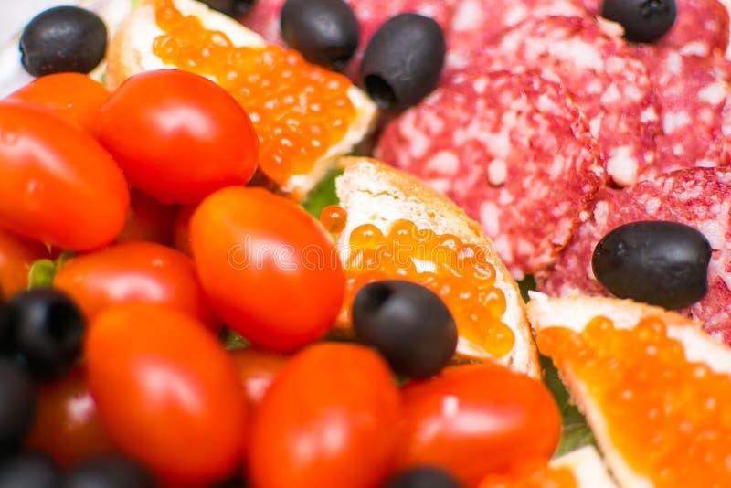 Πίνακας τροφίμων γαστρονομικός στοκ εικόνες