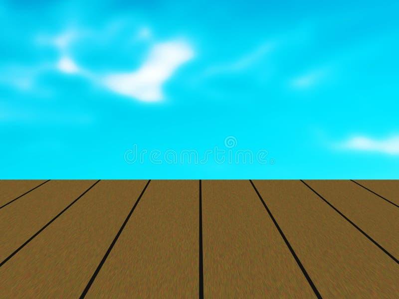 πίνακας φιαγμένος από μίμησης ξύλινη σανίδα διανυσματική απεικόνιση
