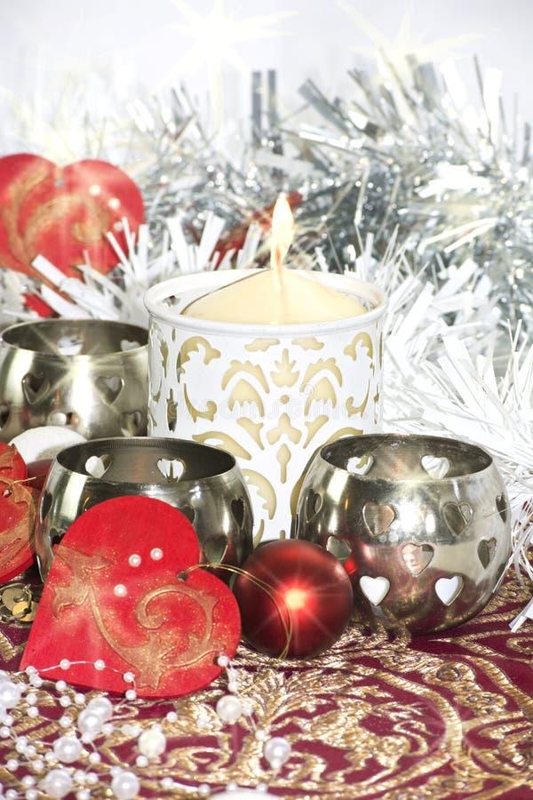 Πίνακας Χριστουγέννων με το κερί στοκ φωτογραφίες με δικαίωμα ελεύθερης χρήσης