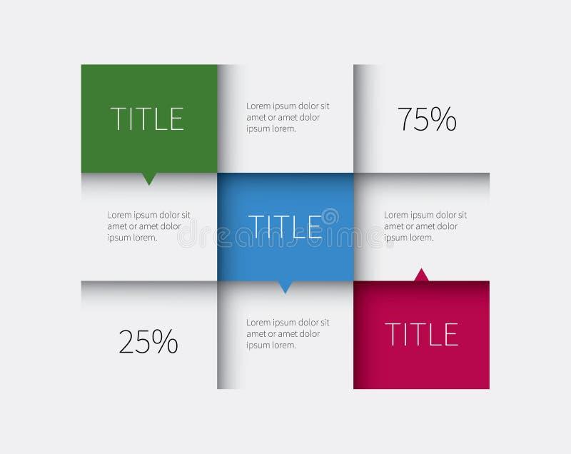Πίνακας infographic με 3 επιλογές απεικόνιση αποθεμάτων