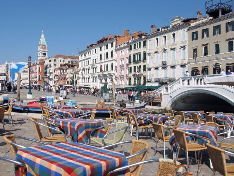 πίνακες Βενετία εστιατ&omicron στοκ φωτογραφίες με δικαίωμα ελεύθερης χρήσης