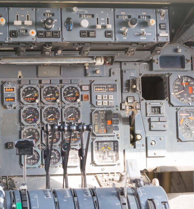 Πίνακες πιλοτηρίων αεροσκαφών στοκ φωτογραφία με δικαίωμα ελεύθερης χρήσης