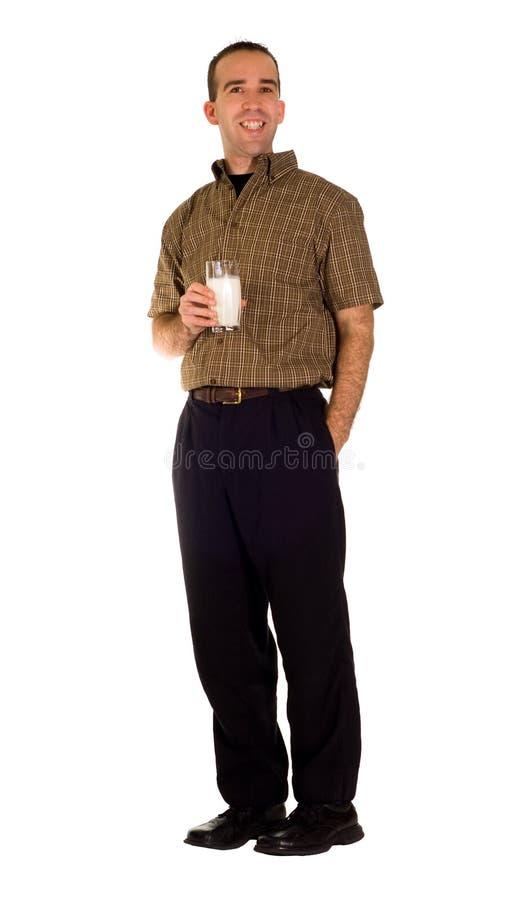 πίνοντας γάλα ατόμων στοκ φωτογραφία με δικαίωμα ελεύθερης χρήσης
