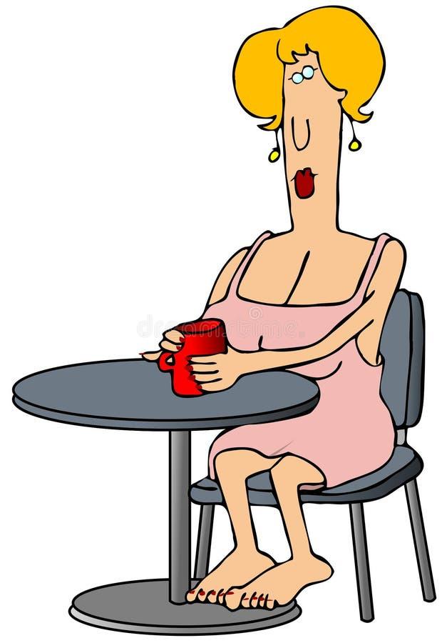 πίνοντας γυναίκα καφέ απεικόνιση αποθεμάτων