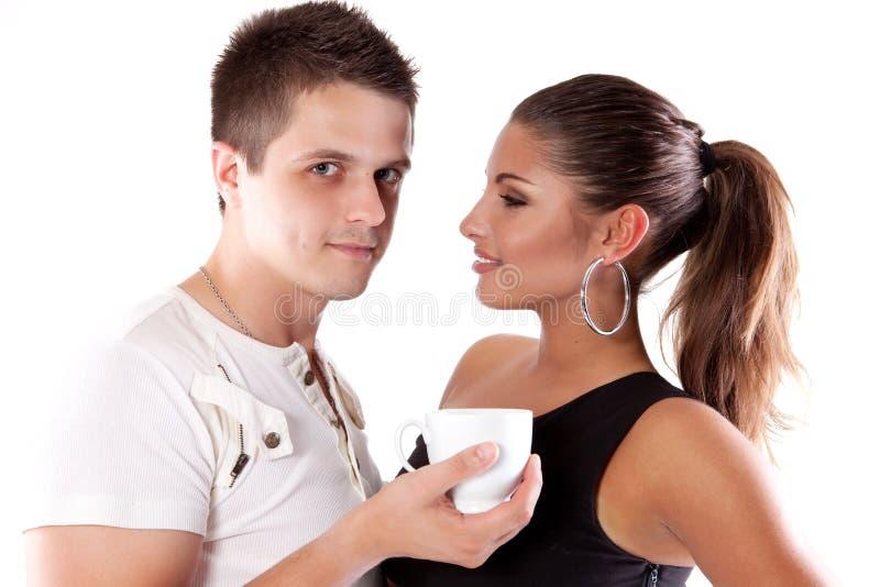 πίνοντας γυναίκα τσαγιού & στοκ φωτογραφία