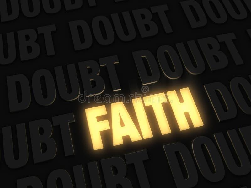Πίστη, ένα φως στη μέση της αμφιβολίας απεικόνιση αποθεμάτων