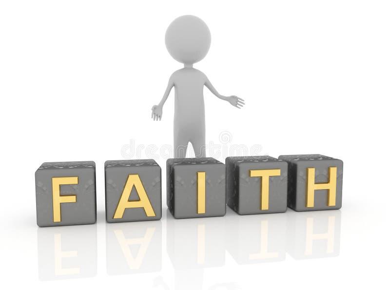 Πίστη λέξης απεικόνιση αποθεμάτων
