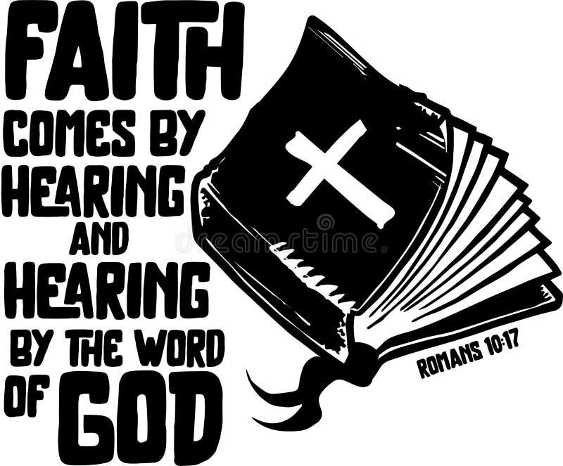 Πίστη από την ακρόαση διανυσματική απεικόνιση