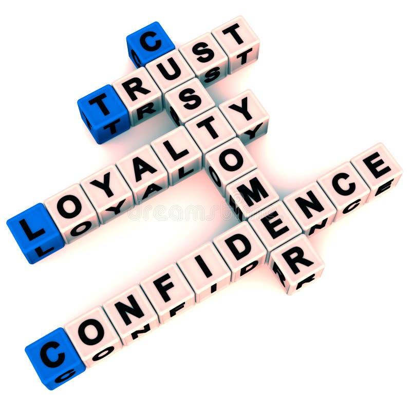 Πίστη και εμπιστοσύνη πελατών διανυσματική απεικόνιση