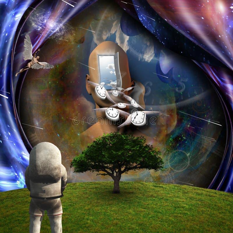 Πίστη και επιστήμη ελεύθερη απεικόνιση δικαιώματος