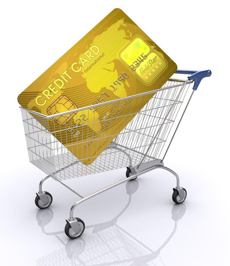 πίστωση καρτών διεθνής απεικόνιση αποθεμάτων