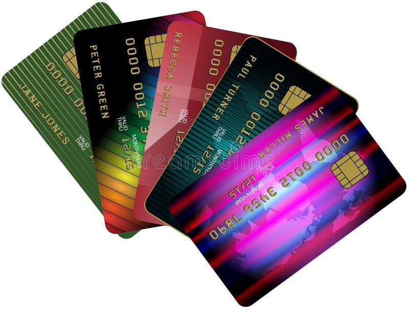 πίστωση καρτών διανυσματική απεικόνιση
