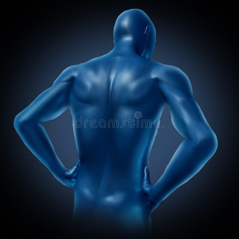 πίσω άνθρωπος απεικόνιση αποθεμάτων