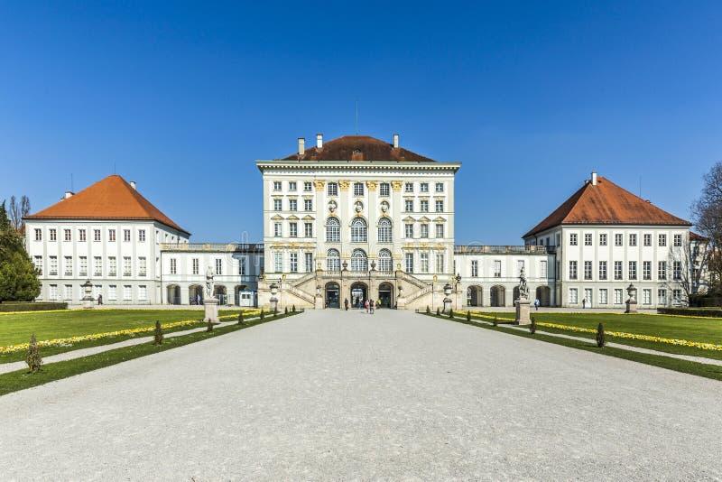 Πίσω άποψη του παλατιού Nymphenburg στοκ φωτογραφία με δικαίωμα ελεύθερης χρήσης