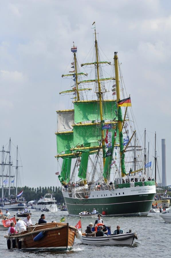 Πίσω άποψη του ψηλού σκάφους του Αλεξάνδρου von Humboldt στοκ φωτογραφία με δικαίωμα ελεύθερης χρήσης