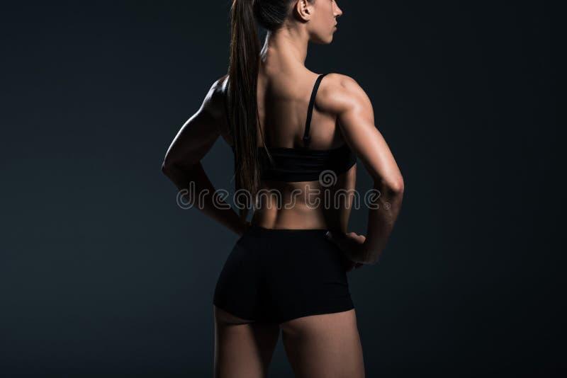 πίσω άποψη sportswear με το μυϊκό σώμα στοκ εικόνες