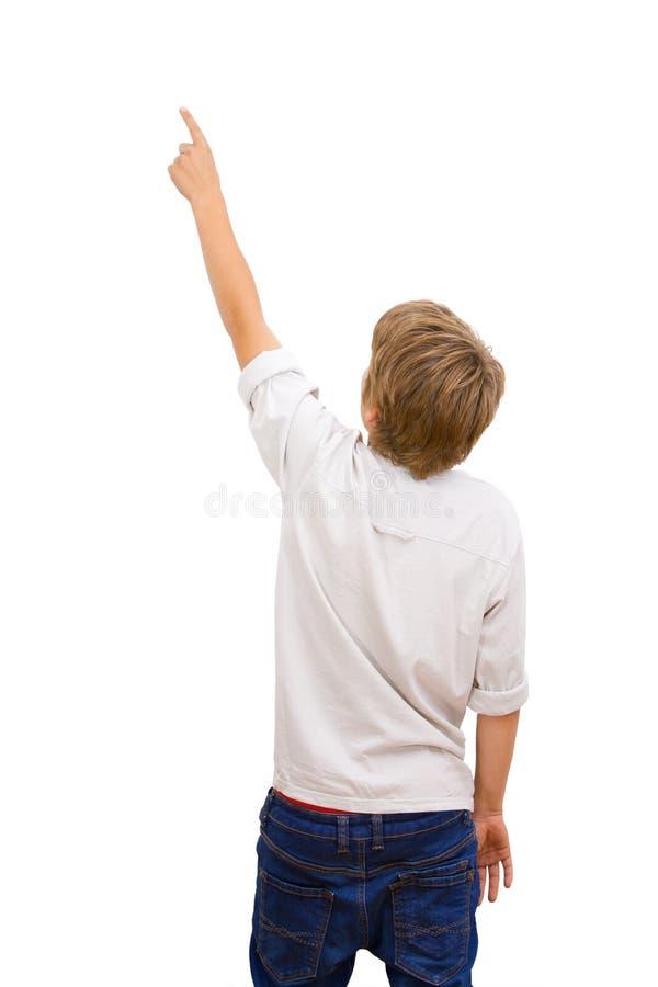πίσω αγόρι που αντιμετωπίζει την υπόδειξη στοκ φωτογραφίες με δικαίωμα ελεύθερης χρήσης