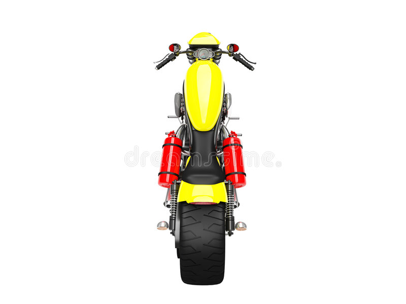 πίσω απομονωμένη όψη moto 02 απεικόνιση αποθεμάτων