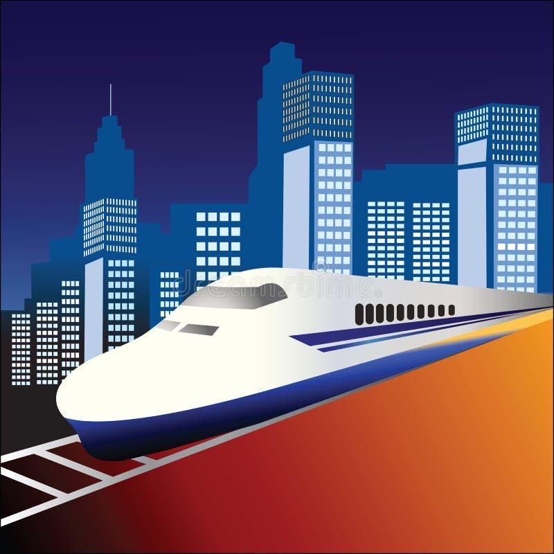πίσω από το τραίνο πόλεων fastrack απεικόνιση αποθεμάτων