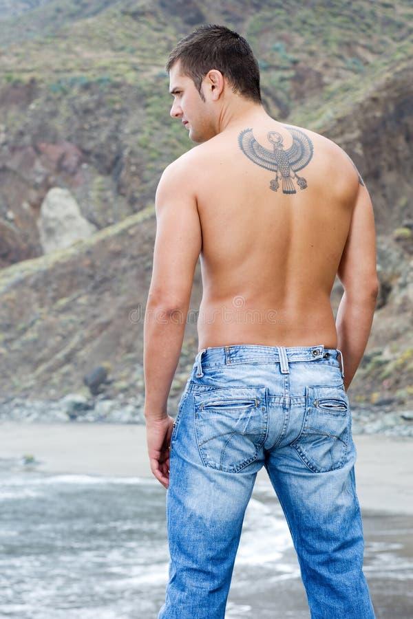 πίσω αρσενικό μοντέλο στοκ φωτογραφίες