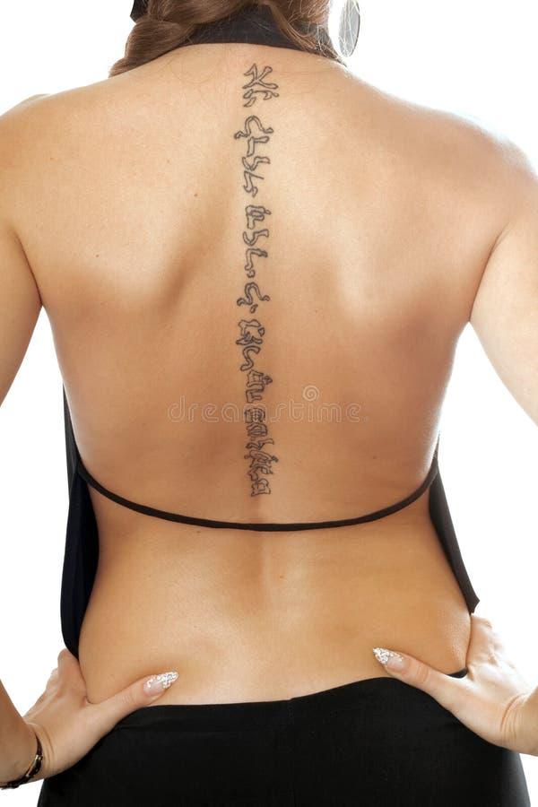 πίσω δερματοστιξία στοκ φωτογραφίες με δικαίωμα ελεύθερης χρήσης