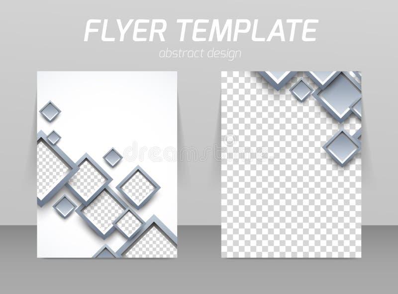 Πίσω και μπροστινό πρότυπο σχεδίου ιπτάμενων απεικόνιση αποθεμάτων