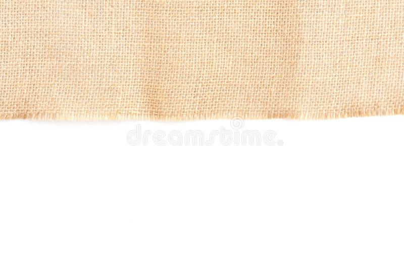 Πίσω καφετί υπόβαθρο σύστασης καμβά υφάσματος με το κενό διάστημα για το σχέδιο κειμένων Καθαρή κίτρινη μπεζ Hessian sackcloth πτ στοκ φωτογραφία με δικαίωμα ελεύθερης χρήσης