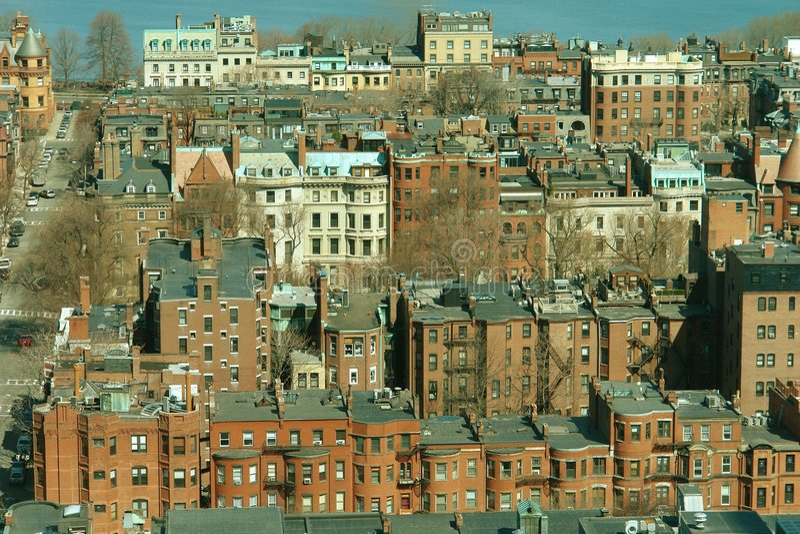 πίσω κόλπος Βοστώνη s στοκ φωτογραφία