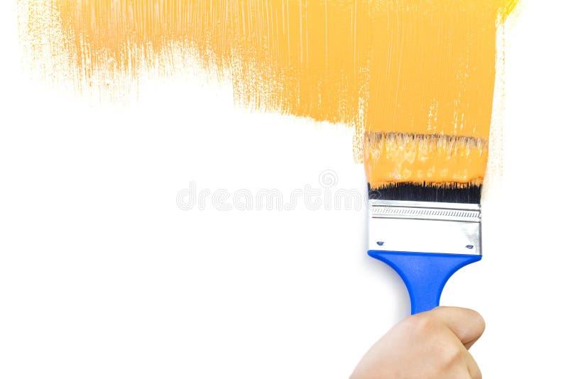 πίσω λευκό μορφής βουρτσώ στοκ εικόνα με δικαίωμα ελεύθερης χρήσης