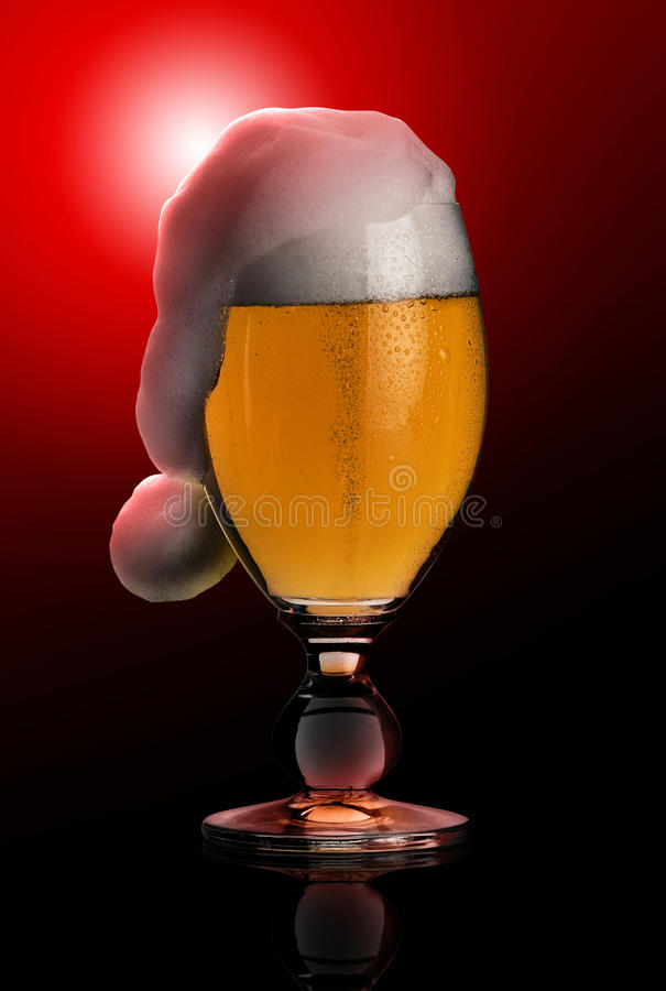 πίσω μαύρα Χριστούγεννα μπύρ& στοκ φωτογραφίες